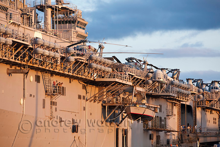 The USS Essex - an amphibious assault ship.  Cairns, Queensland, Australia