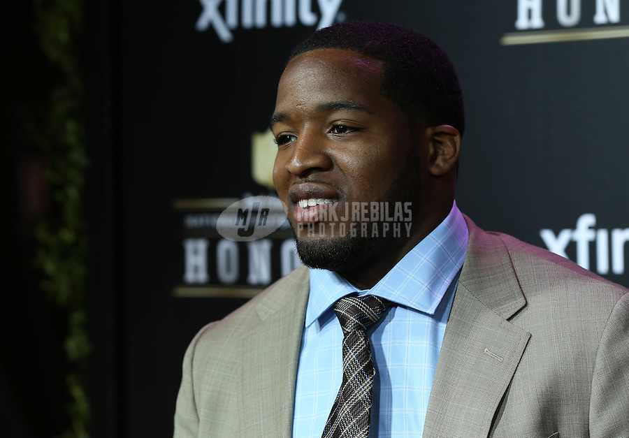 Feb. 2, 2013; New Orleans, LA, USA: NFL player Alfred Morris on the red carpet prior to the Super Bowl XLVII NFL Honors award show at Mahalia Jackson Theater. Mandatory Credit: Mark J. Rebilas-USA TODAY Sports