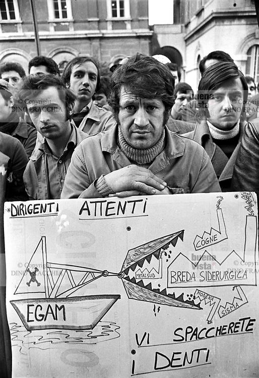 - strike of the metal and mechanics worker against the management of state-owned companies (Milan, 1976<br /> <br /> - sciopero degli operai metalmeccanici  contro la gestione delle aziende a partecipazione statale (Milano, 1976)