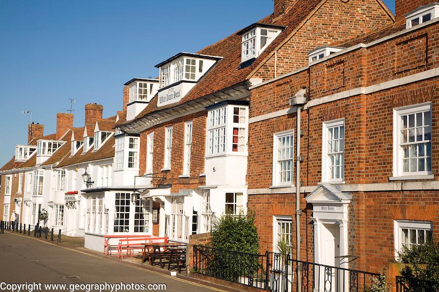 Historic quayside buildings, Burnham on Crouch, Essex, England