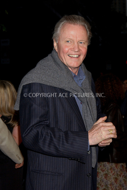 WWW.ACEPIXS.COM . . . . . ....NEW YORK, MAY 3, 2006....Jon Voight at the 'Mission Impossible III' New York Premiere.....Please byline: KRISTIN CALLAHAN - ACEPIXS.COM.. . . . . . ..Ace Pictures, Inc:  ..(212) 243-8787 or (646) 679 0430..e-mail: picturedesk@acepixs.com..web: http://www.acepixs.com