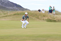 Thomas Pieters (BEL) on the 8th green during Round 3 of the Dubai Duty Free Irish Open at Ballyliffin Golf Club, Donegal on Saturday 7th July 2018.<br /> Picture:  Thos Caffrey / Golffile