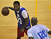 Nick Carter, left, plays in a Long Island Nets open tryout at LIU Post's Pratt Center in Brookville, NY on Saturday, Sept. 30, 2017.