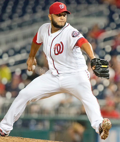 Washington Nationals relief pitcher Yusmeiro Petit (52) works in the fifth inning against the New York Mets at Nationals Park in Washington, D.C. on Tuesday, June 28, 2016. The Nationals won the game 5 - 0.<br /> Credit: Ron Sachs / CNP/MediaPunch ***FOR EDITORIAL USE ONLY***