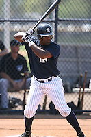 March 17th 2008:  Abraham Almonte of the New York Yankees minor league system during Spring Training at Legends Field Complex in Tampa, FL.  Photo by:  Mike Janes/Four Seam Images