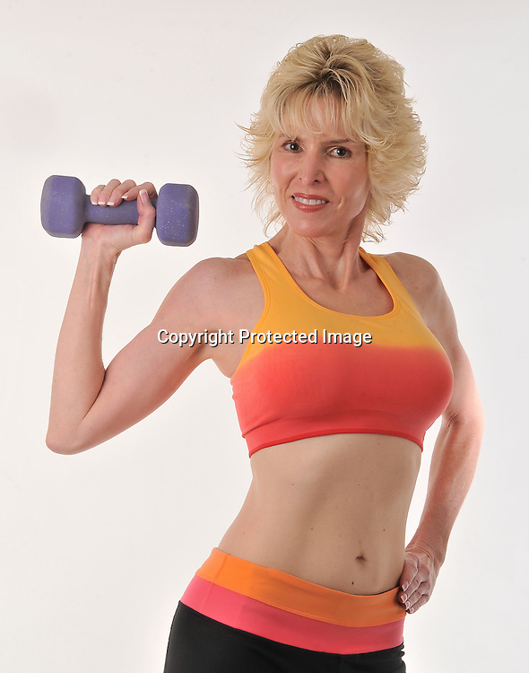 Mature Woman With Weights