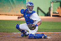 Jake Henson (27) of the Ogden Raptors on defense against the Grand Junction Rockies in Pioneer League action at Lindquist Field on July 6, 2015 in Ogden, Utah.  Ogden defeated Grand Junction 8-7.(Stephen Smith/Four Seam Images)