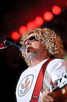 Sammy Hagar and The Wabos performing at Verizon Wireless Amphitheater in Maryland Heights, MO on July 1, 2010.