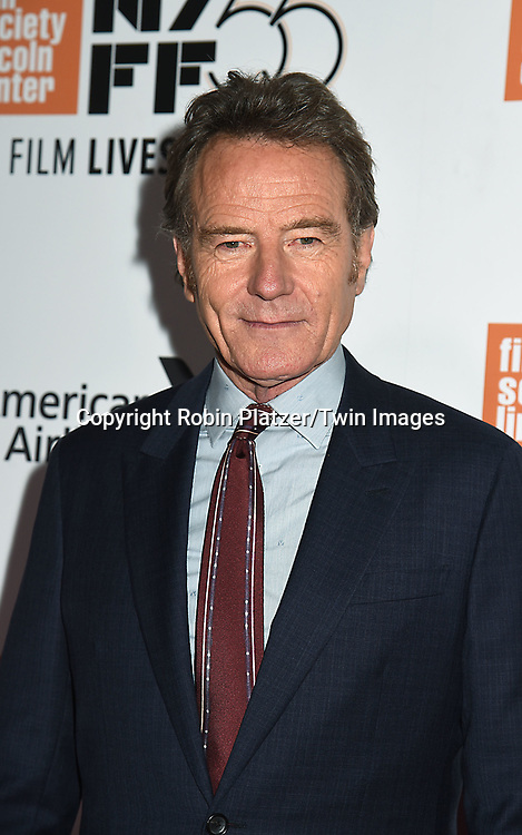 actor Bryan Cranston attends the Opening Night Gala Presentation and World Premiere of &quot; Last Flag Flying&quot; at the 55th New York Film Festival on September 28, 2017 at Alice Tully Hall in Lincoln Center in New York City. <br /> <br /> photo by Robin Platzer/Twin Images<br />  <br /> phone number 212-935-0770