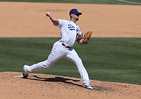 25th July 2020, Los Angeles, California, USA;  Los Angeles Dodgers pitcher Blake Treinen (49) throws a pitch during the game against the San Francisco Giants on July 25, 2020, at Dodger Stadium in Los Angeles, CA.