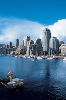 Vancouver skyline and bay seen from Grandville Island. British Colombia, Canada 06-02