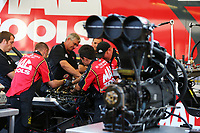 Sep 4, 2017; Clermont, IN, USA; Crew members for NHRA top fuel driver Doug Kalitta during the US Nationals at Lucas Oil Raceway. Mandatory Credit: Mark J. Rebilas-USA TODAY Sports