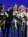 Laura Dreyfuss, Ben Platt and Rachel Bay Jones during the Broadway Opening Night Performance Curtain Call for 'Dear Evan Hansen'  at The Music Box Theatre on December 3, 2016 in New York City.