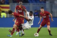 Mirko Antonucci of AS Roma , Rafael Leao of AC Milan , Edin Dzeko of AS Roma , Jordan Veretout of AS Roma <br /> Roma 27-10-2019 Stadio Olimpico <br /> Football Serie A 2019/2020 <br /> AS Roma - AC Milan<br /> Foto Andrea Staccioli / Insidefoto