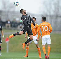 Boyds, MD. - March 17, 2018: D.C. United tied the Houston Dynamo 2-2 during their Major League Soccer (MLS) home opening match at the Maryland SoccerPlex.