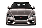 Car photography straight front view of a 2018 Jaguar XF Sportbrake R Sport 5 Door Wagon