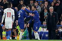 Chelsea's Cesc Fabregas replaces Jorginho in the second half during Chelsea vs Crystal Palace, Premier League Football at Stamford Bridge on 4th November 2018