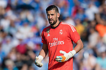 Francisco Casilla Cortes, Kiko Casilla, of Real Madrid reacts during the La Liga 2017-18 match between Getafe CF and Real Madrid at Coliseum Alfonso Perez on 14 October 2017 in Getafe, Spain. Photo by Diego Gonzalez / Power Sport Images