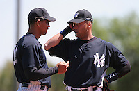 Derek Jeter and Alex Rodriguez of the New York Yankees vs the Pittsburgh Pirates March 18th, 2007 at Legends Field in Tampa, FL during Spring Training action.  Photo By Mike Janes/Four Seam Images