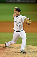 Lakeland Flying Tigers pitcher Guido Knudson (51) during a game against the Brevard County Manatees on April 10, 2014 at Joker Marchant Stadium in Lakeland, Florida.  Lakeland defeated Brevard County 6-5.  (Mike Janes/Four Seam Images)