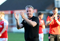 Fleetwood Town Manager John Sheridan applauds the fans after the match<br /> <br /> Photographer Leila Coker/CameraSport<br /> <br /> The EFL Sky Bet League One - Fleetwood Town v Walsall - Saturday 5th May 2018 - Highbury Stadium - Fleetwood<br /> <br /> World Copyright &copy; 2018 CameraSport. All rights reserved. 43 Linden Ave. Countesthorpe. Leicester. England. LE8 5PG - Tel: +44 (0) 116 277 4147 - admin@camerasport.com - www.camerasport.com