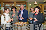 Tasting: Enjoying the wine and canaped at JOHNR'S Delicatessen in Listowel on Sunday evening were Marie Galvin, Finuge, Sue & Paul Taylor , Listowel, Pat Galvin , Finuge and Margaret O'Sullivan from Listowel.