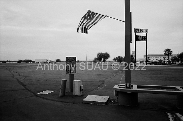 Gila Bend, Arizona<br /> November 14, 2006<br /> <br /> Love's travel shop and country store is a truck stop, cafe, RV park and gas station in the midst of the Arizona desert.