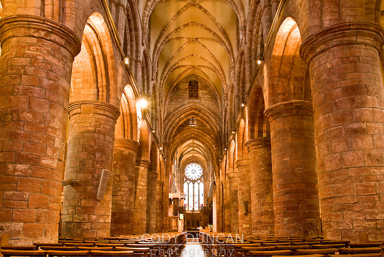 Interior of St. Magnus cathedral, Kirkwall, Orkney, Scotland