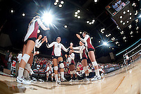 STANFORD, CA - September 2, 2010: Stephanie Browne (12) during a volleyball match against UC Irvine in Stanford, California. Stanford won 3-0.