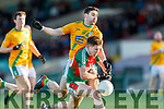 20-1-19 AIB GAA Football All-Ireland Intermediate Club Championship, Semi Final between Kilcummin, and Two Mile House in the Gaelic Grounds, Limerick.<br /> Padraig Nagle, Kilcummin tackled by Shane Darcy, Two Mile House.<br /> Picture: Keith Wiseman
