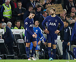 Erik Lamela of Tottenham and Fernando Llorente of Tottenham dejected during the premier league match at the Amex Stadium, London. Picture date 17th April 2018. Picture credit should read: David Klein/Sportimage