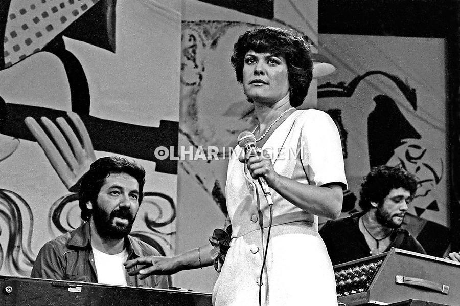 Pessoa. Personalidade. Cantora Elis Regina e Cesar Camargo Mariano. SP. 1978. Foto de Juca Martins.