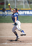 Wildcats' Kristina George pitches against College of Southern Nevada at Edmonds Sports Complex Carson City, Nev., on Saturday, May 2, 2015.<br /> Photo by Cathleen Allison