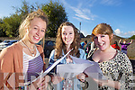 DELIGHTED: Kate Magowan, Clogherbrien, Tralee, Aisling Moriarty, Alderwood Road, Tralee and Catriona Keane, Derrylea, students from Presentation Secondary School, Tralee, delighted with their results on Wednesday..