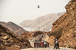 The peleton in action during Stage 2 of the 2018 Tour of Oman running 167.5km from Sultan Qaboos University to Al Bustan. 14th February 2018.<br /> Picture: ASO/Muscat Municipality/Kare Dehlie Thorstad | Cyclefile<br /> <br /> <br /> All photos usage must carry mandatory copyright credit (&copy; Cyclefile | ASO/Muscat Municipality/Kare Dehlie Thorstad)