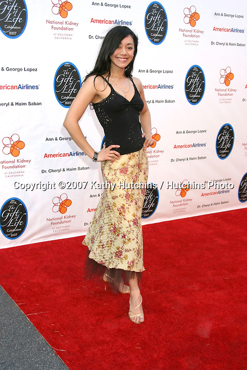 Aimee Garcia.The Gift of Life Celebration 2007.National Kidney Foundation Benefit.Warner Brothers Studio Lot.Burbank, California USA.April 29, 2007 .©2007 Kathy Hutchins / Hutchins Photo....