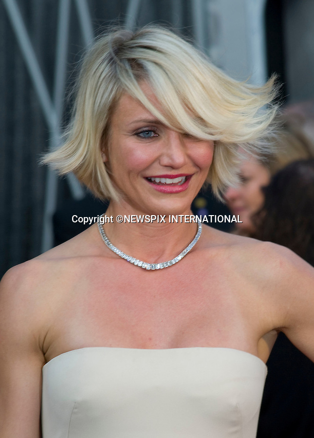 """CAMERON DIAZ..84th Academy Awards arrivals, Kodak Theatre, Hollywood, Los Angeles_26/02/2012.Mandatory Photo Credit: ©Dias/Newspix International..**ALL FEES PAYABLE TO: """"NEWSPIX INTERNATIONAL""""**..PHOTO CREDIT MANDATORY!!: NEWSPIX INTERNATIONAL(Failure to credit will incur a surcharge of 100% of reproduction fees)..IMMEDIATE CONFIRMATION OF USAGE REQUIRED:.Newspix International, 31 Chinnery Hill, Bishop's Stortford, ENGLAND CM23 3PS.Tel:+441279 324672  ; Fax: +441279656877.Mobile:  0777568 1153.e-mail: info@newspixinternational.co.uk"""