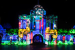 The entrance to Taronga Zoo during the 2016 Vivid Light Festival