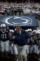 09 October 2004:  Joe Paterno readies his Nittany lions to run out of the tunnel and onto the field...Purdue defeated Penn State 20-13  October 9, 2004 at Beaver Stadium in State College, PA....