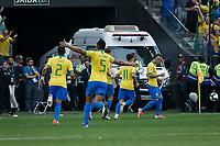 SÃO PAULO, SP 22.06.2019: PERU-BRASIL - Everton comemroa gol. Peru e Brasil durante partida válida pela terceira rodada do grupo A da Copa América Brasil 2019, que acontece na Arena Corinthians, zona leste da capital paulista na tarde deste sábado (22). (Foto: Ale Frata/Código19)