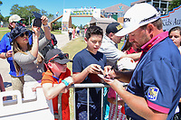 Graeme McDowell (NIR) signs autographs after round 4 of the Valero Texas Open, AT&amp;T Oaks Course, TPC San Antonio, San Antonio, Texas, USA. 4/23/2017.<br /> Picture: Golffile | Ken Murray<br /> <br /> <br /> All photo usage must carry mandatory copyright credit (&copy; Golffile | Ken Murray)