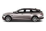 Car driver side profile view of a 2018 Jaguar XF Sportbrake R Sport 5 Door Wagon
