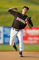 Kannapolis Intimidators starting pitcher Kyle Hansen (51) in action against the Hagerstown Suns at CMC-Northeast Stadium on May 17, 2013 in Kannapolis, North Carolina.  The Suns defeated the Intimidators 9-7.   (Brian Westerholt/Four Seam Images)