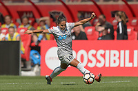 Bridgeview, IL - Saturday May 27, 2017: Debinha De Oliveira during a regular season National Women's Soccer League (NWSL) match between the Chicago Red Stars and the North Carolina Courage at Toyota Park. The Red Stars won 3-2.