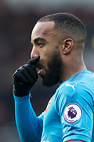 Alexandre Lacazette of Arsenal during the Premier League match between Bournemouth and Arsenal at the Goldsands Stadium, Bournemouth, England on 14 January 2018. Photo by Andy Rowland.