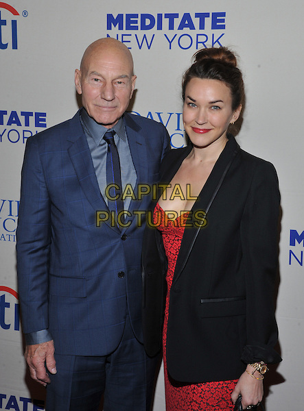New York,NY-November 4: Patrick Stewart ,Sunny Ozell attends the 2015 Change Begins Within Benefit Gala at Carnegie Hall on November 4, 2015 in New York City . <br /> CAP/MPI/STV<br /> &copy;STV/MPI/Capital Pictures