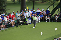Xander Schauffele (USA) on the 18th tee during the 1st round at the The Masters , Augusta National, Augusta, Georgia, USA. 11/04/2019.<br /> Picture Fran Caffrey / Golffile.ie<br /> <br /> All photo usage must carry mandatory copyright credit (&copy; Golffile | Fran Caffrey)