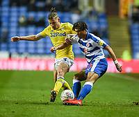 Reading's Danny Loader (right) is tackled by Leeds United's Kalvin Phillips (left) <br /> <br /> Photographer David Horton/CameraSport<br /> <br /> The EFL Sky Bet Championship - Reading v Leeds United - Tuesday 12th March 2019 - Madejski Stadium - Reading<br /> <br /> World Copyright &copy; 2019 CameraSport. All rights reserved. 43 Linden Ave. Countesthorpe. Leicester. England. LE8 5PG - Tel: +44 (0) 116 277 4147 - admin@camerasport.com - www.camerasport.com