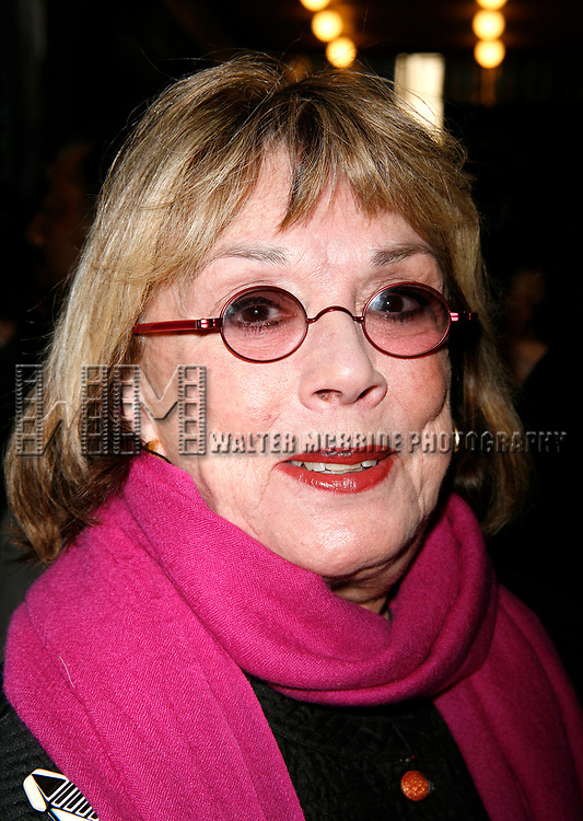 Phyllis Newman attending the Opening Night Broadway Performance of Patrick Stewart in MACBETH at the Lyceum Theatre in New York City.<br />
