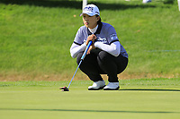 Amy Yang (KOR) on the 18th green during Thursday's Round 1 of The Evian Championship 2018, held at the Evian Resort Golf Club, Evian-les-Bains, France. 13th September 2018.<br /> Picture: Eoin Clarke | Golffile<br /> <br /> <br /> All photos usage must carry mandatory copyright credit (© Golffile | Eoin Clarke)